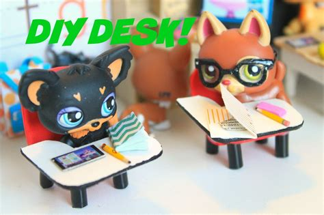 How To Make Lps Stuff Out Of Paper - lps diy how to make a miniature school desk