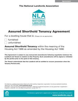 shorthold tenancy agreement template pdf fillable assured shorthold tenancy agreement