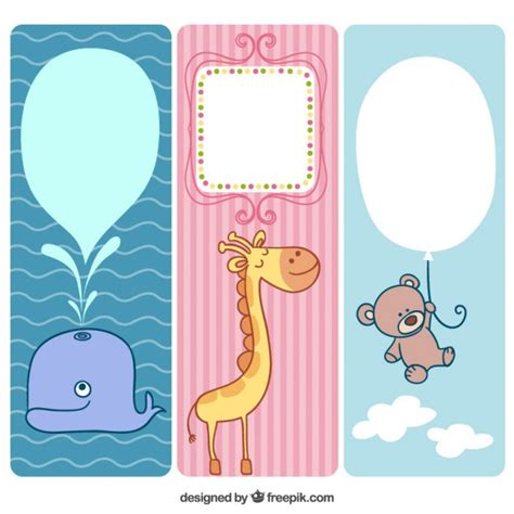 design banner cute cute animals banners for baby vector free download