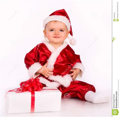 imagenes de bebes santa claus cute baby dressed as santa claus stock photo image 23420198
