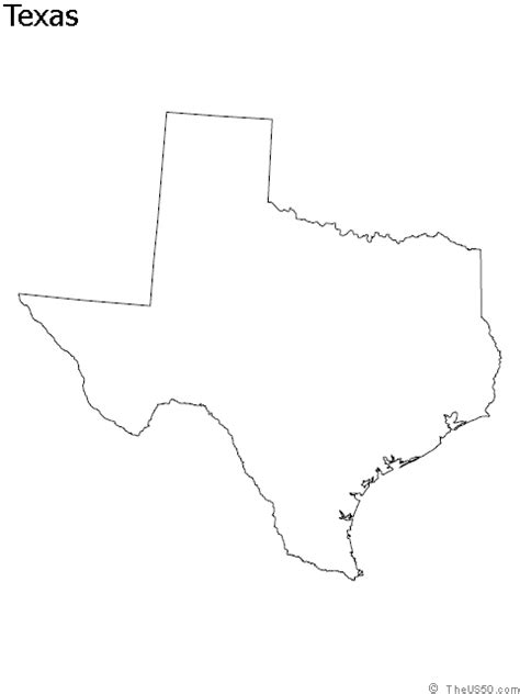 map of texas outline the us50 a guide to the state of texas geography