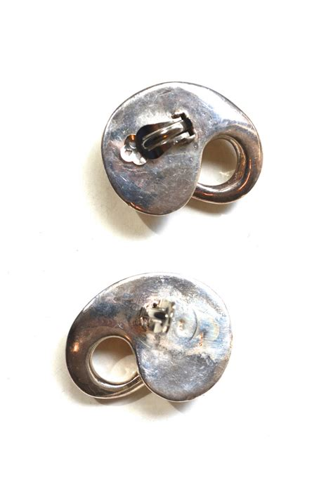 organic mod sterling earrings for sale at 1stdibs