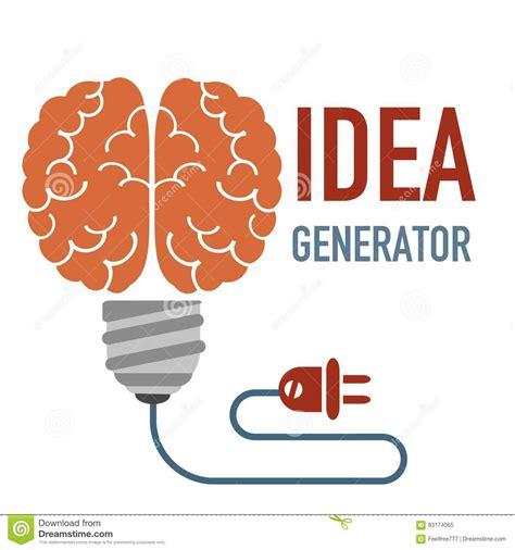 idea generator idea generator concept stock vector image of answers