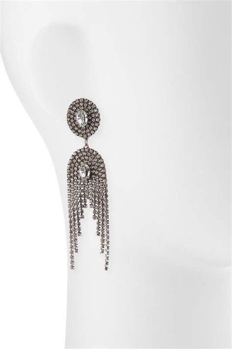 dannijo paltrow silver statement earrings from toronto by