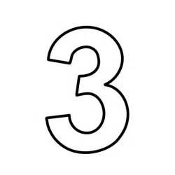 lettere e numeri numero 3 tre stampatello