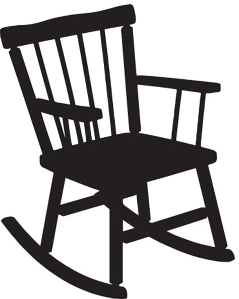rocking chaise rocking chair silhouette vector art thinkstock