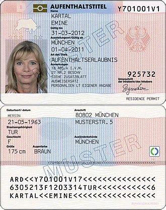German Identity Card Template by Elektronischer Aufenthaltstitel