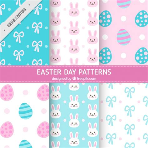 vector pattern pastel free cute easter patterns in pastel colors vector free download