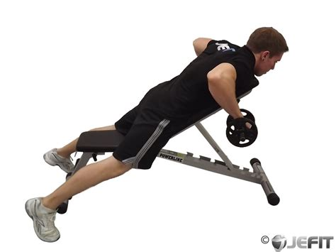 incline bench back exercises dumbbell incline bench two arm row exercise database