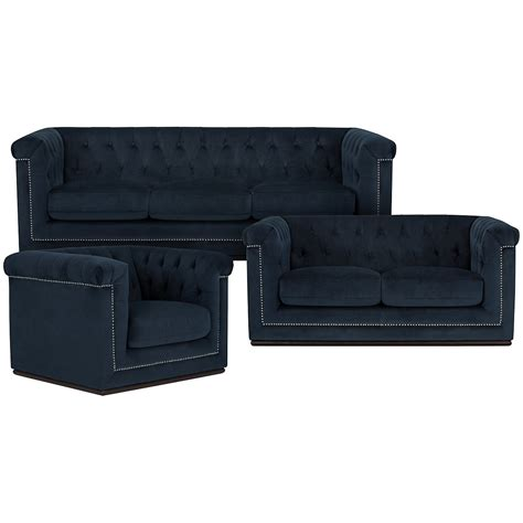 sofa city furniture city furniture blair dk blue microfiber sofa