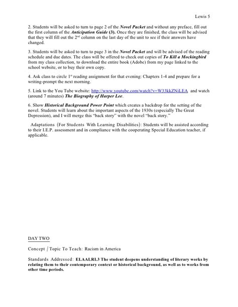 harper lee biography lesson plan the official tkam unit plan lessons