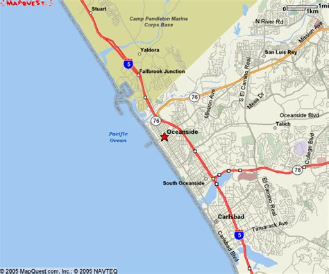 oceanside california map oceanside california maps