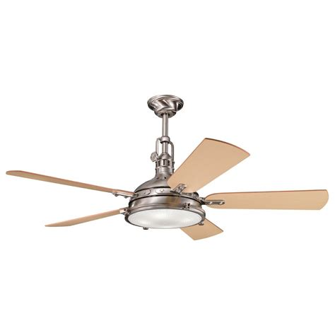 coastal ceiling fans with lights kichler lighting 300018bss 56 inch hatteras bay ceiling