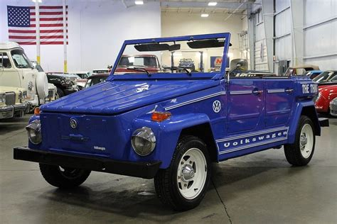 volkswagen thing blue blue 1974 volkswagen thing for sale mcg marketplace
