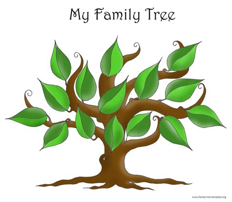 Tree Family free blank family tree template the non structured