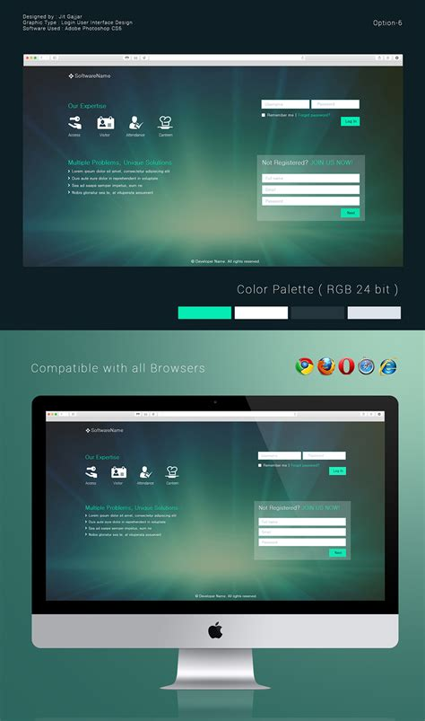 Ui Design Ideas by Login User Interface Design Options On Behance