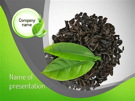 Young Tea Leaves Powerpoint Template Backgrounds 11382 Tea Ppt Template Free