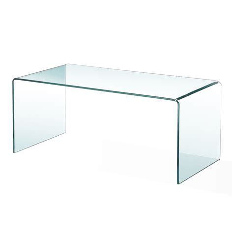 bent glass condo coffee table xcella