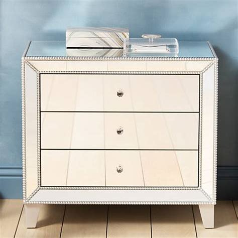 accent table with 3 drawers liza 3 drawer 30 quot wide mirrored accent table 6v395