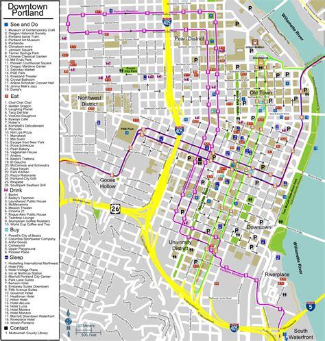 portland transit map portland maps free printable maps