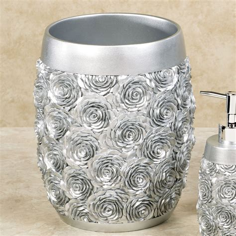 Silver Bathroom Accessories Just Roses Silver Bath Accessories