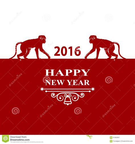 new year monkey decor happy new year holidays 2016 decorations card silhouette