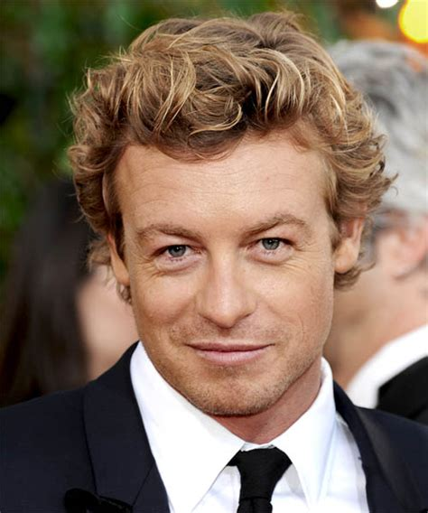 blond hair actor in the mentalist simon baker short wavy casual hairstyle