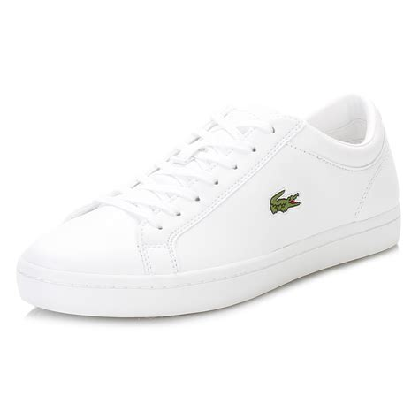 lacoste womens shoes lacoste womens white trainers straightset bl1 spw lace