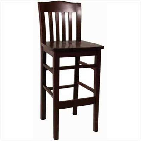 Wooden Bar Stool With Back Slat Back Wood Bar Stool Millennium Seating Usa Restaurant Furniture Tableware Supplier