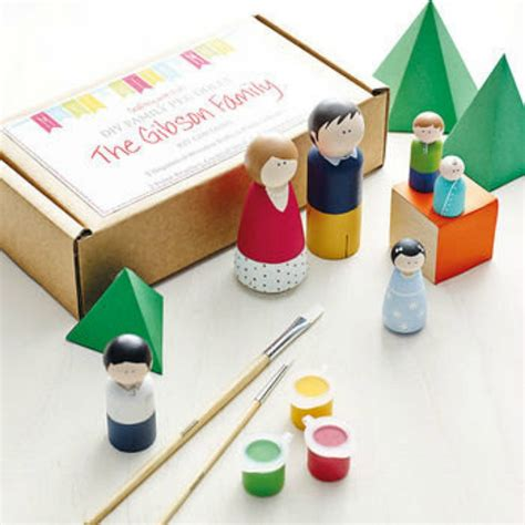 craft kits for peg doll kit family of 5 craft kit diy craft kit