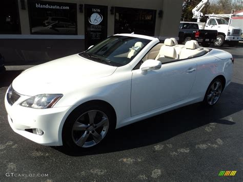 white lexus 2010 2010 starfire white pearl lexus is 350c convertible