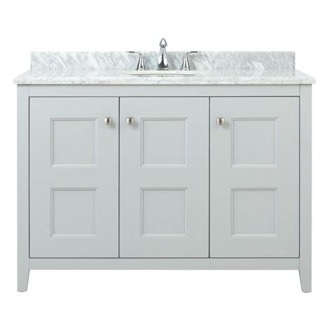 Home Depot Bathroom Vanities 48 Home Decorators Collection Union Square 48 In W X 22 In D Bath Vanity In Dove Grey With