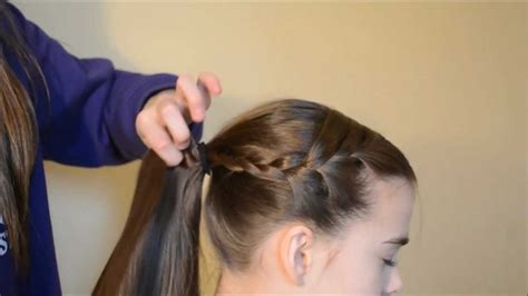 hairstyles for long hair for competition gymnastics meet hair youtube