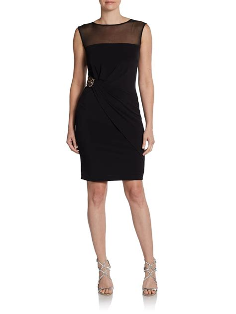 Ck Calvin Klein Sleevlees Dress calvin klein sleeveless waist dress in black lyst