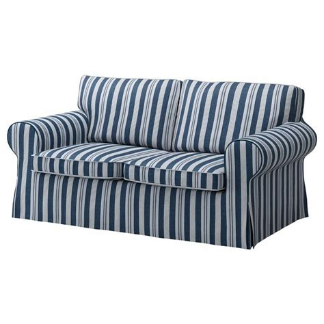 striped slipcovers ikea ektorp 2 seat sofa cover abyn blue loveseat slipcover