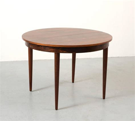 Dining Table With Leaf Extension Hans Rosewood Dining Table With Extension Leaf For Sale At 1stdibs