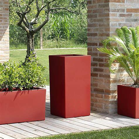 vasi da giardino vaso alto da esterno schio cubo alto
