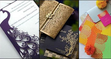 Wedding Card Unique Designs by Unique And Creative Wedding Card Designs Of Every Style