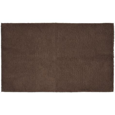 garland rug cotton chocolate 30 in x 50 in washable bathroom accent rug que 3050 14