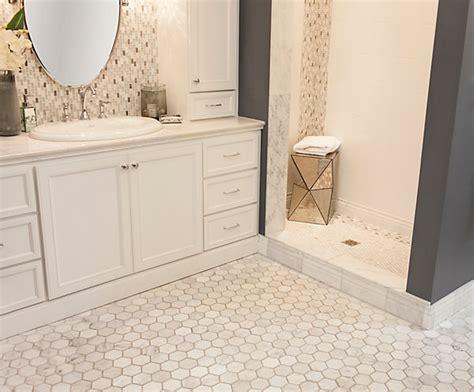 marble hex tile bathroom floor 2 quot hton carrara marble tile love love love