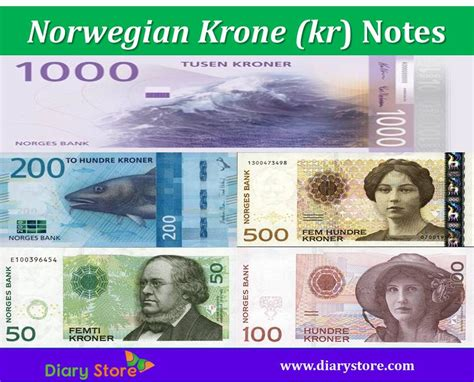 currency nok krone currency krone nok diary store