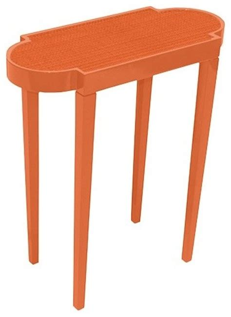 orange accent table small cocktail accent table tini ii knockout orange