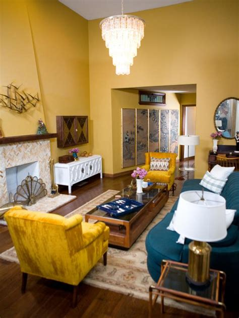 blue and gold room photo page hgtv