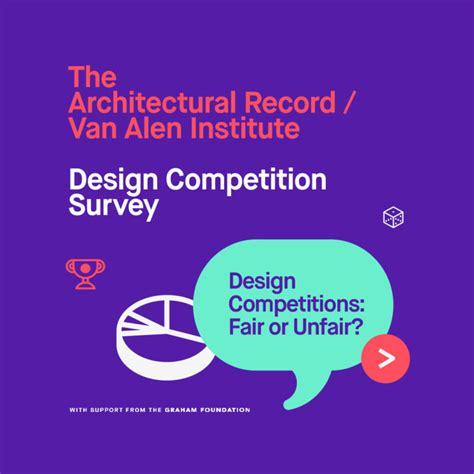 design contest questionnaire architectural record van alen institute design
