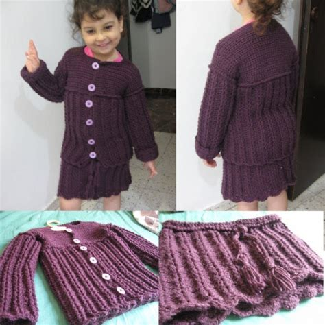 pattern for 2 year old skirt crochet childs sweater and skirt set for my daughter youtube