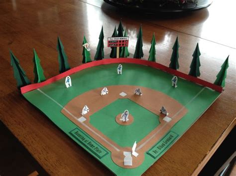 how to make a baseball field in your backyard baseball project for a book report kids school projects