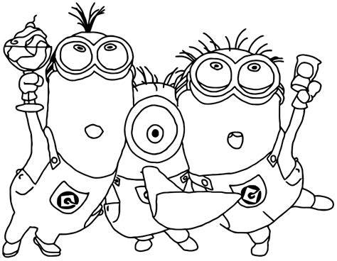 free coloring pages of the purple minion