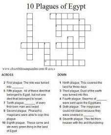 ten plagues egypt crossword puzzle