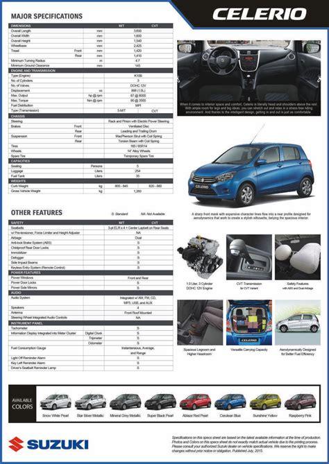 Suzuki Celerio Specifications Suzuki Philippines Brings A With All New 2015 Celerio