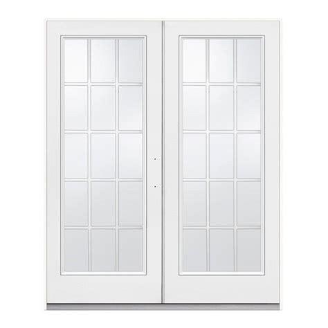 Jeld Wen Patio Doors Jeld Wen 72 In X 80 In Primed Steel Right Inswing 15 Lite Glass Stationary Active Patio